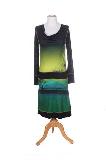 anatopik robes et mi et longues femme de couleur vert