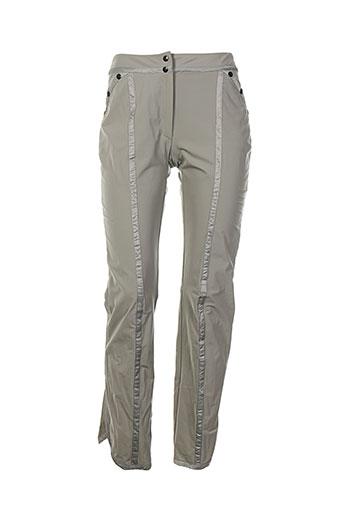 kas pantalons femme de couleur gris