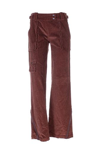 beatrice.b pantalons femme de couleur marron