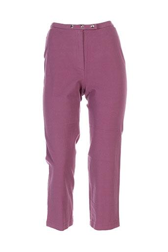 rech et sport pantacourts et decontractes femme de couleur violet