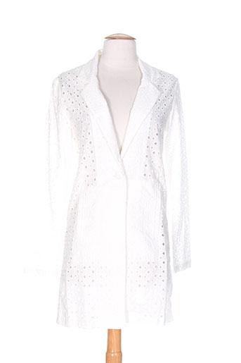 ichi vestes femme de couleur blanc