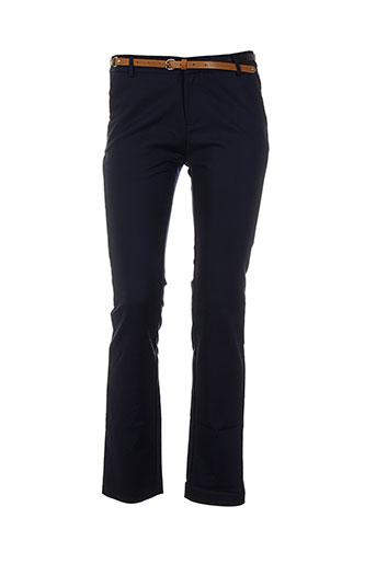 kilky pantalons femme de couleur bleu