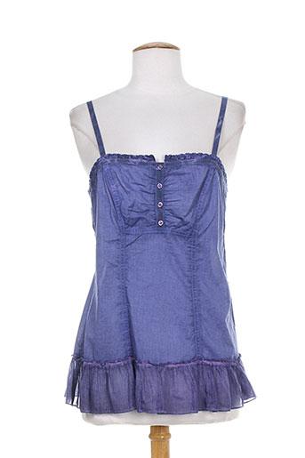 sarah luna chemises femme de couleur bleu