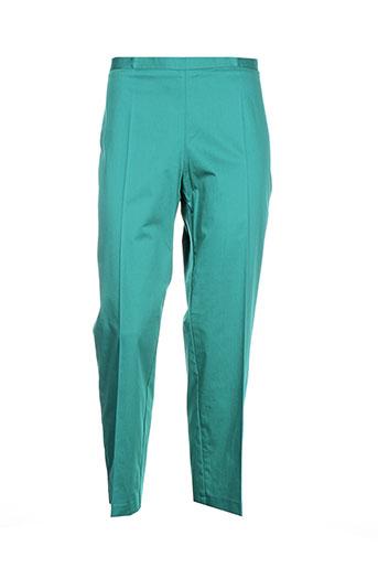 carla et montanarini pantalons et citadins femme de couleur vert