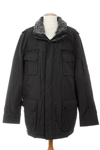 cabano manteaux homme de couleur noir