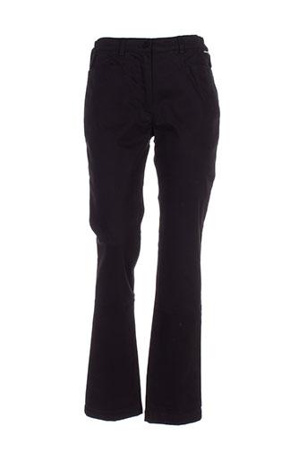 armor lux pantalons femme de couleur noir