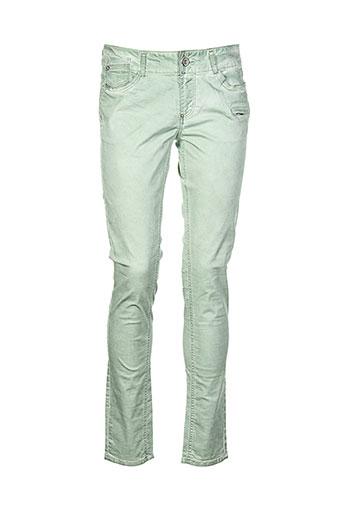 garcia pantalons et decontractes femme de couleur vert