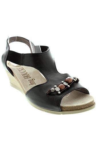 jmg et houcke sandales et nu et pieds femme de couleur noir