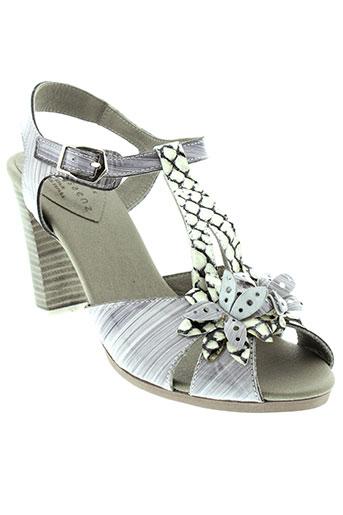 jose et saenz sandales et nu et pieds femme de couleur gris