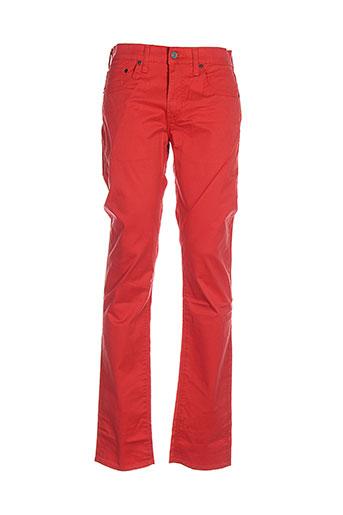 levis pantalons et decontractes homme de couleur rouge
