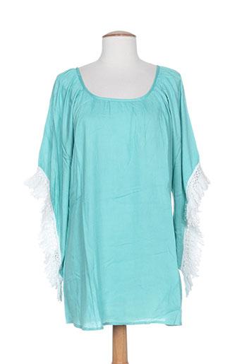avani del amour tuniques femme de couleur bleu