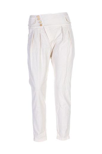 maryley pantalons femme de couleur beige