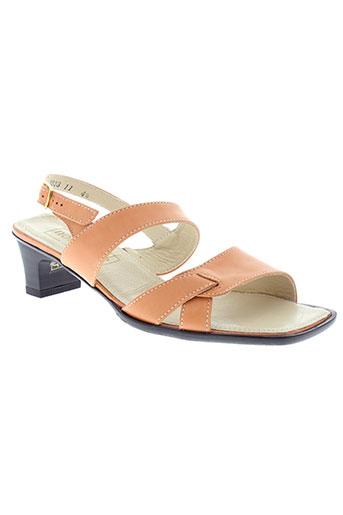 nordaline et de et marco sandales et nu et pieds femme de couleur orange