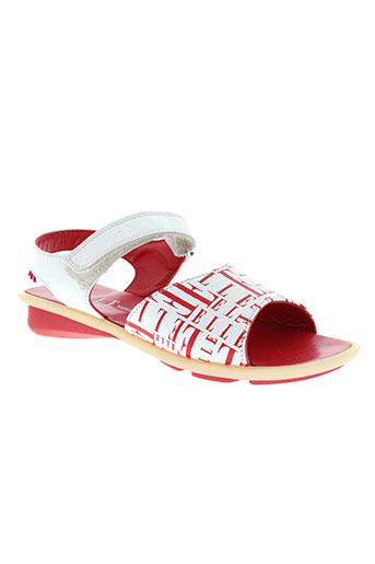 elle sandales et nu et pieds femme de couleur rouge