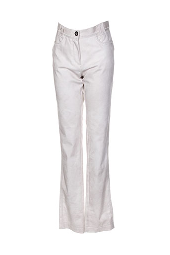 Pantalon casual beige BEATE HEYMANN pour femme