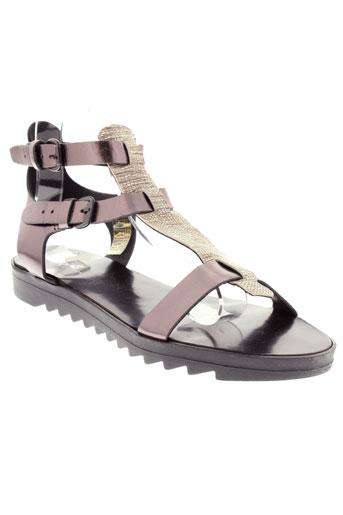reqins sandales et nu et pieds femme de couleur gris