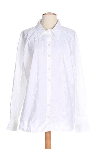 elie bonnie chemises femme de couleur blanc