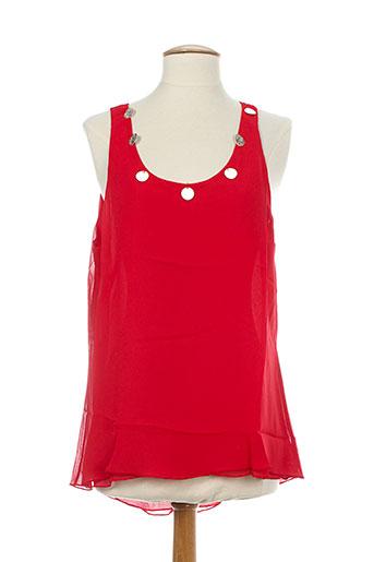 elie bonnie chemises femme de couleur rouge