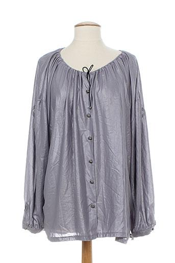 elie bonnie chemises femme de couleur gris
