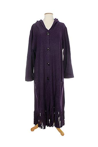 Veste casual violet ELIE BONNIE pour femme