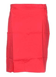 Jupe mi-longue rouge ELIE BONNIE pour femme