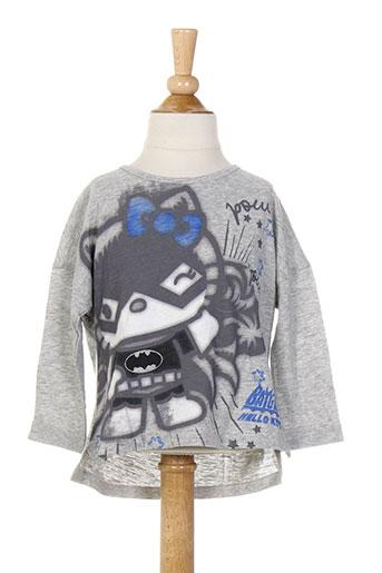 T-shirt manches longues gris BENETTON pour fille
