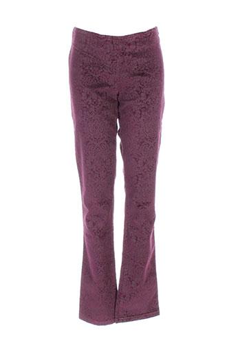 sisley pantalons fille de couleur rouge