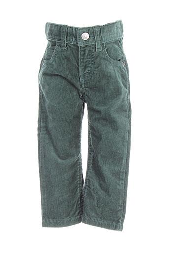 benetton pantalons garçon de couleur vert
