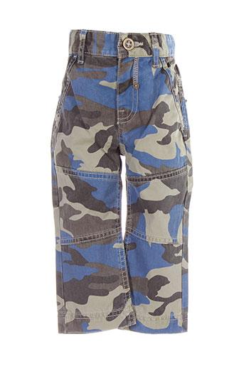 benetton pantalons garçon de couleur bleu