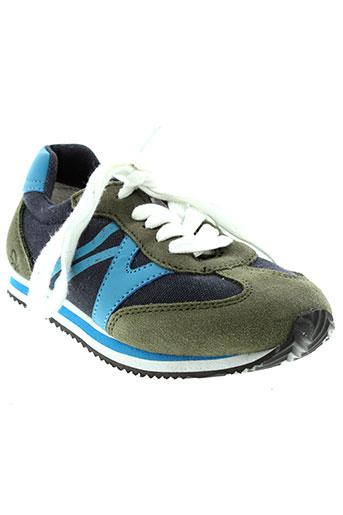 benetton chaussures garçon de couleur vert