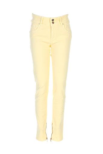 kocca pantalons et decontractes femme de couleur jaune