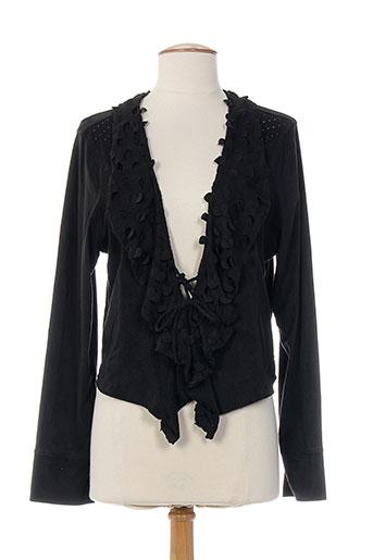 anna scott vestes femme de couleur noir