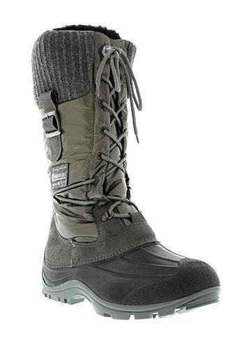 kimberfeel bottes femme de couleur gris