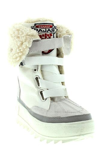 pajar boots fille de couleur blanc
