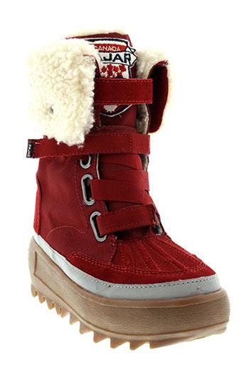 pajar boots fille de couleur rouge