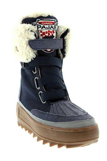 pajar boots fille de couleur bleu