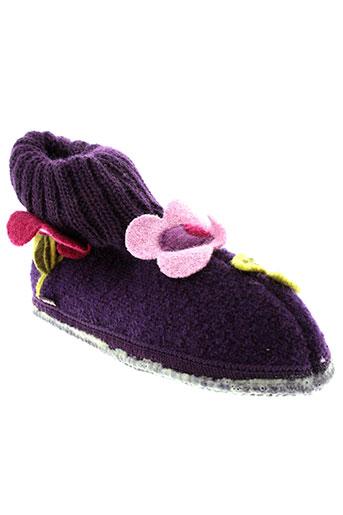 mod et 8 chaussons fille de couleur violet
