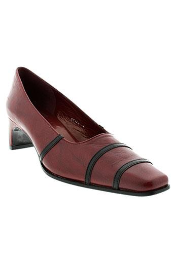 france et mode escarpins femme de couleur rouge