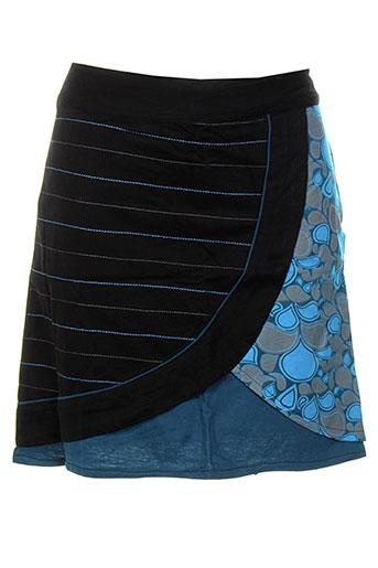 bamboo et s jupes et courtes femme de couleur bleu