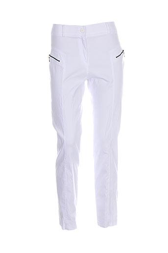 ficelle pantalons femme de couleur blanc