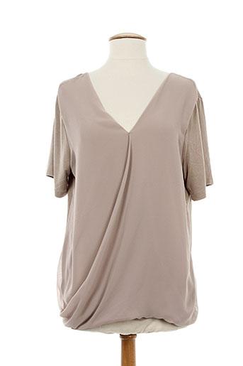 ninati chemises femme de couleur beige