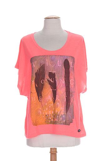 watts chemises femme de couleur rose