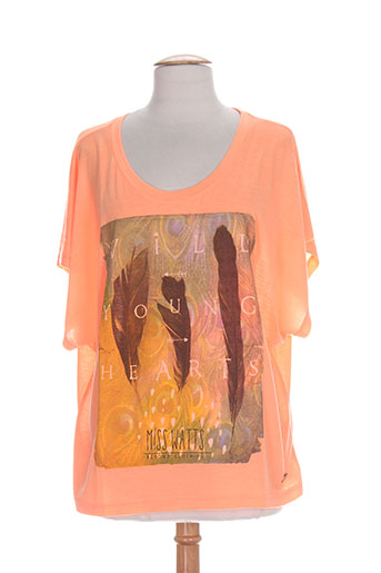 watts chemises femme de couleur orange