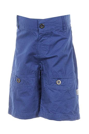 3 pommes shorts / bermudas garçon de couleur bleu