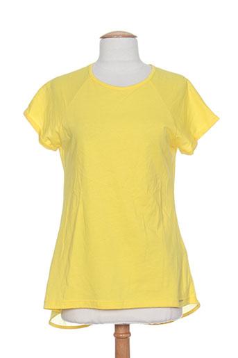 fracomina t-shirts femme de couleur jaune