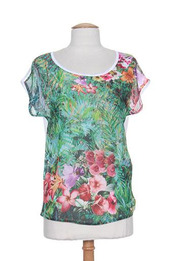 fracomina t-shirts femme de couleur vert