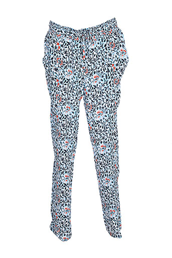 color et block pantalons et decontractes femme de couleur bleu