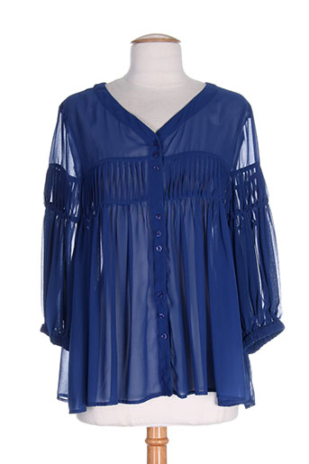 fracomina chemises femme de couleur bleu