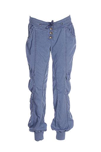 cream pantalons et decontractes femme de couleur bleu