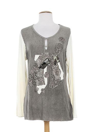 etnia t-shirts femme de couleur gris